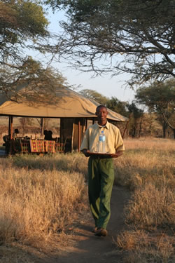 Service with a smile at Serengeti Kati Kati