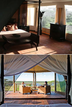 Luxury tented accommodation with private ensuite facilities