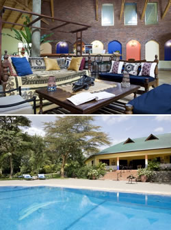 Olasiti Lodge lounge and pool areas