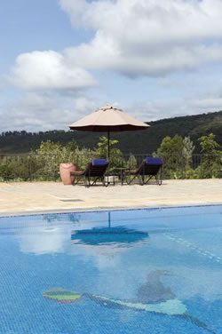 View from the pool at Tloma Lodge